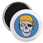 Colored Pirate Skull Magnet