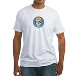 Colored Pirate Skull Fitted T-Shirt