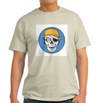 Colored Pirate Skull Ash Grey T-Shirt