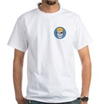 Colored Pirate Skull White T-Shirt