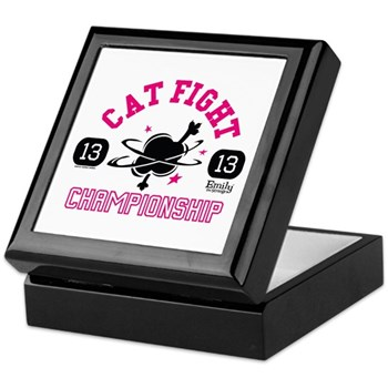 Cat FIght Championship Keepsake Box