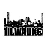 Milwaukee Skyline Rectangle Car Magnet
