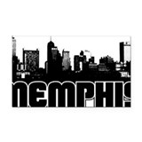 Memphis Skyline Rectangle Car Magnet