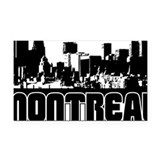 Montreal Skyline Rectangle Car Magnet