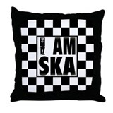 I am SKA Throw Pillow