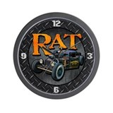 Diamond Plate RAT Wall Clock