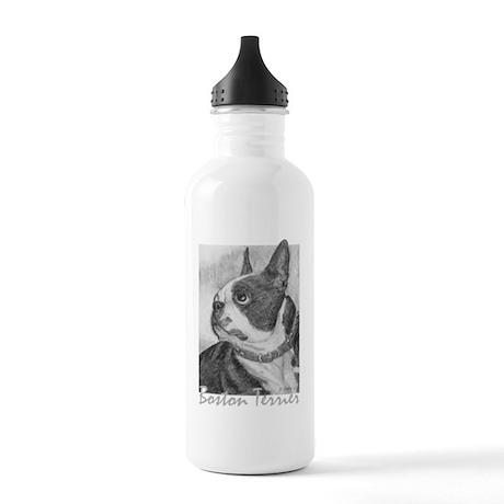 PODO Portraits -- Boston Terrier Stainless Water B