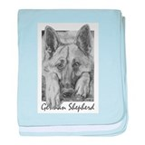 PODO Portraits -- German Shepherd baby blanket