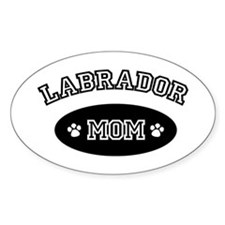 Labrador Mom Rectangle Decal