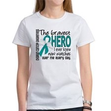 Bravest Hero I Knew Ovarian Cancer Tee