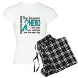 Bravest Hero I Knew Ovarian Cancer pajamas