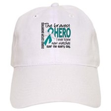 Bravest Hero I Knew Ovarian Cancer Baseball Cap