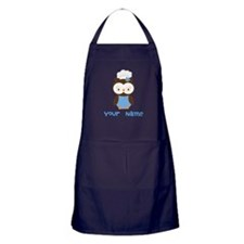 Personalized Owl Chef Apron (dark)