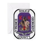 Prince Georges k9 Bomb Greeting Cards (Package of