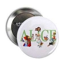 "Alice and Her Friends in Wonderland 2.25"" Button"