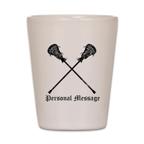 Personalized Lacrosse Sticks Shot Glass