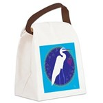 egret Canvas Lunch Bag