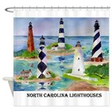 NC Light houses Shower Curtain