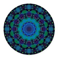 Mellow Art Mandala Round Car Magnet