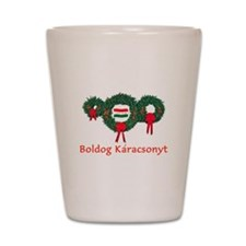 Hungary Christmas 2 Shot Glass