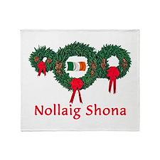 Ireland Christmas 2 Throw Blanket