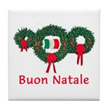 Italy Christmas 2 Tile Coaster