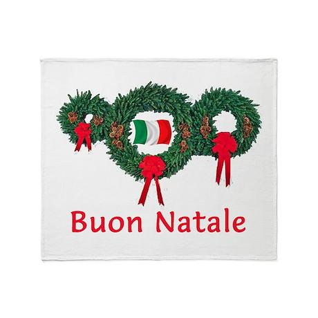 Italy Christmas 2 Throw Blanket