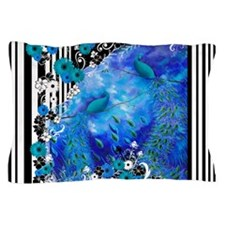 Peacock Garden Stripe Pillow Case