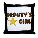 Deputy's Girl Throw Pillow