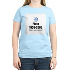 Pluto Rest in Peace Women's Pink T-Shirt