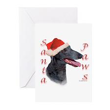 Santa Paws Greyhound Greeting Cards (Pk of 10)
