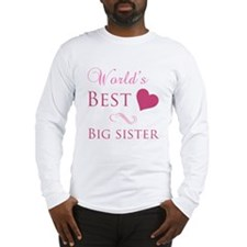 World's Best Big Sister (Heart) Long Sleeve T-Shir