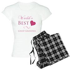 World's Best Great Grandma (Heart) Pajamas