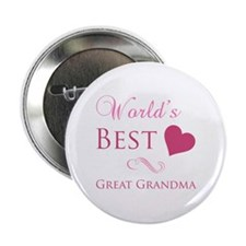 "World's Best Great Grandma (Heart) 2.25"" Button"