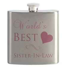 World's Best Sister-In-Law (Heart) Flask