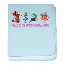 Alice and Her Friends in Wonderland baby blanket