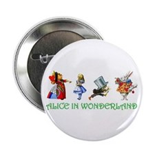 "Alice and Her Friends in Wonderland 2.25"" Button ("