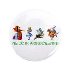 "Alice and Her Friends in Wonderland 3.5"" Button"