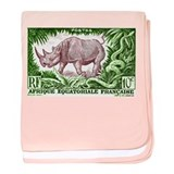 1947 French Equatorial Africa Rhinoceros Stamp bab