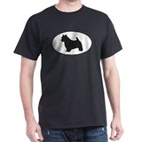 Norwich Terrier Silhouette Black T-Shirt