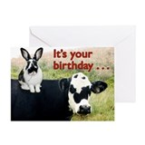 Bunny &amp;amp; Cow Greeting Card