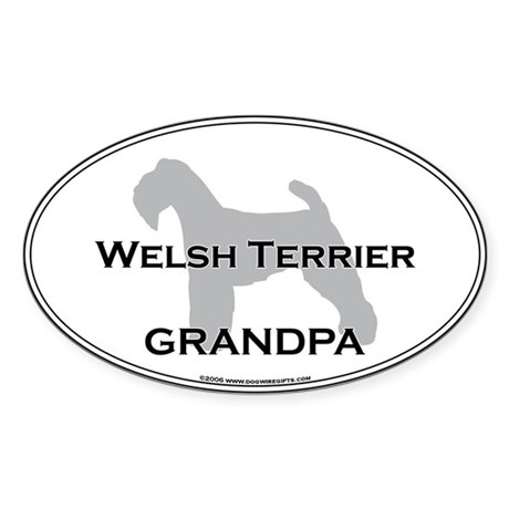 Welsh Terrier GRANDPA Oval Sticker