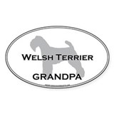 Welsh Terrier GRANDPA Oval Decal