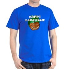 Halloween Lit Pumpkin Black T-Shirt