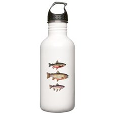Stacked Trout Water Bottle