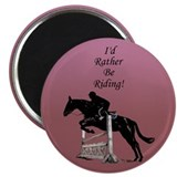 "Id Rather Be Riding! Horse 2.25"" Magnet (100 pack)"