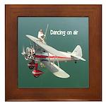 Dancing on air wingwalker Framed Tile