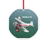 Silver Wings Wingwalker Ornament (Round)