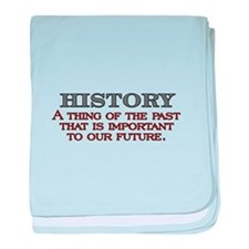 History A Thing of the Past baby blanket