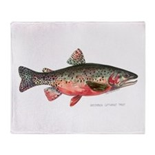 Greenback Cutthroat Trout Throw Blanket